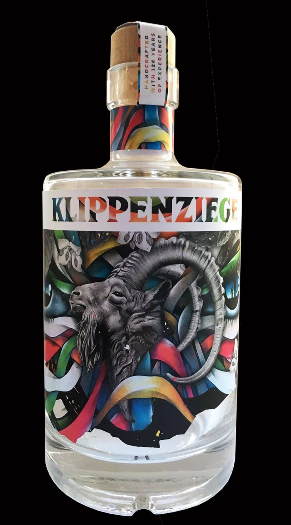 "Label design for ""Klippenziege Gin"""