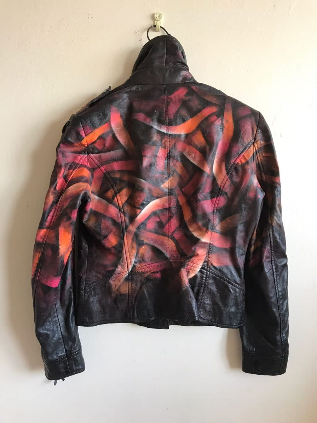 Otto Schade Galaxo Girl Spray Painted Leather Jacket Otto