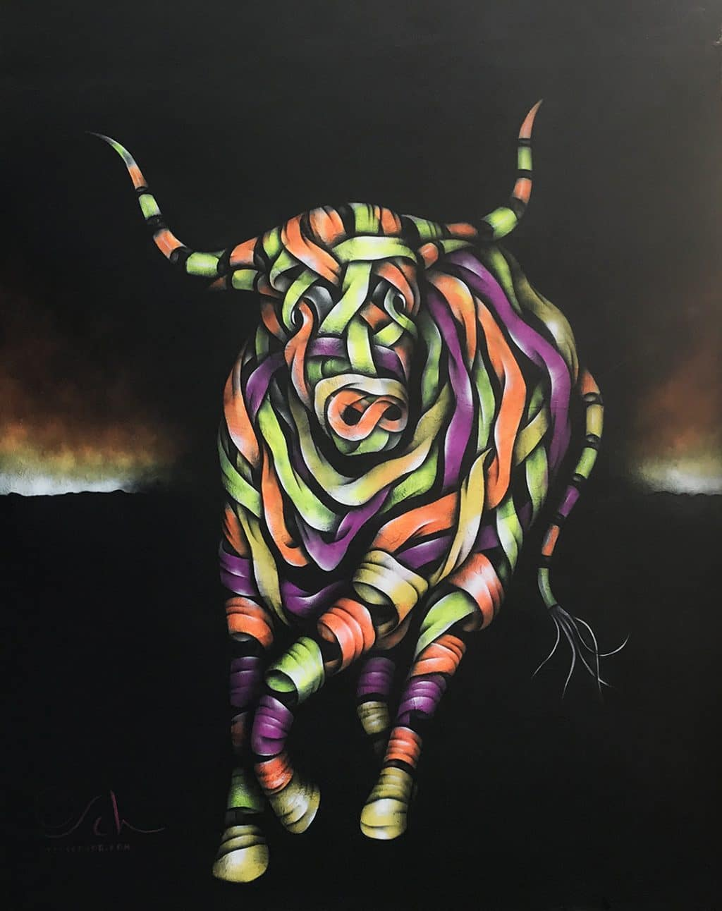 Bull in a China Shop Cocktail bar Commission
