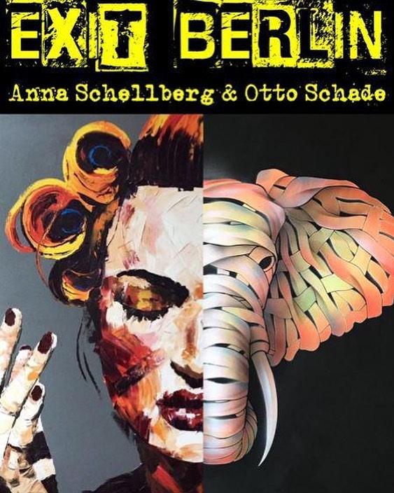 """EXIT BERLIN"" – Otto Schade & Anna Schellberg show in Berlin: Urban Art meets Modern Art @ Kulturspaeti"