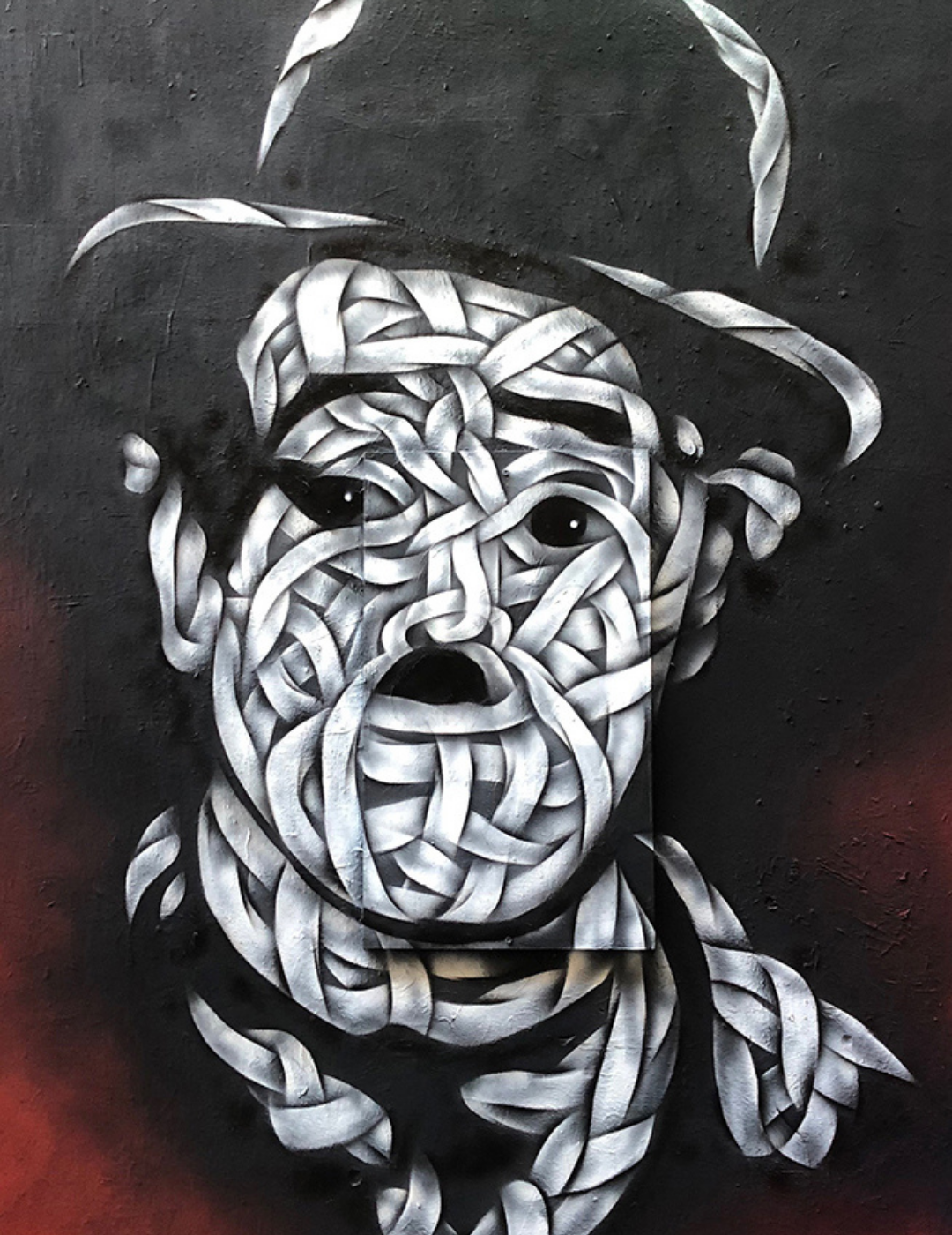Charlie Chaplin Street Art by Otto Schade @ Kino Café, Haus Schwarzenberg, Mitte (Berlin)