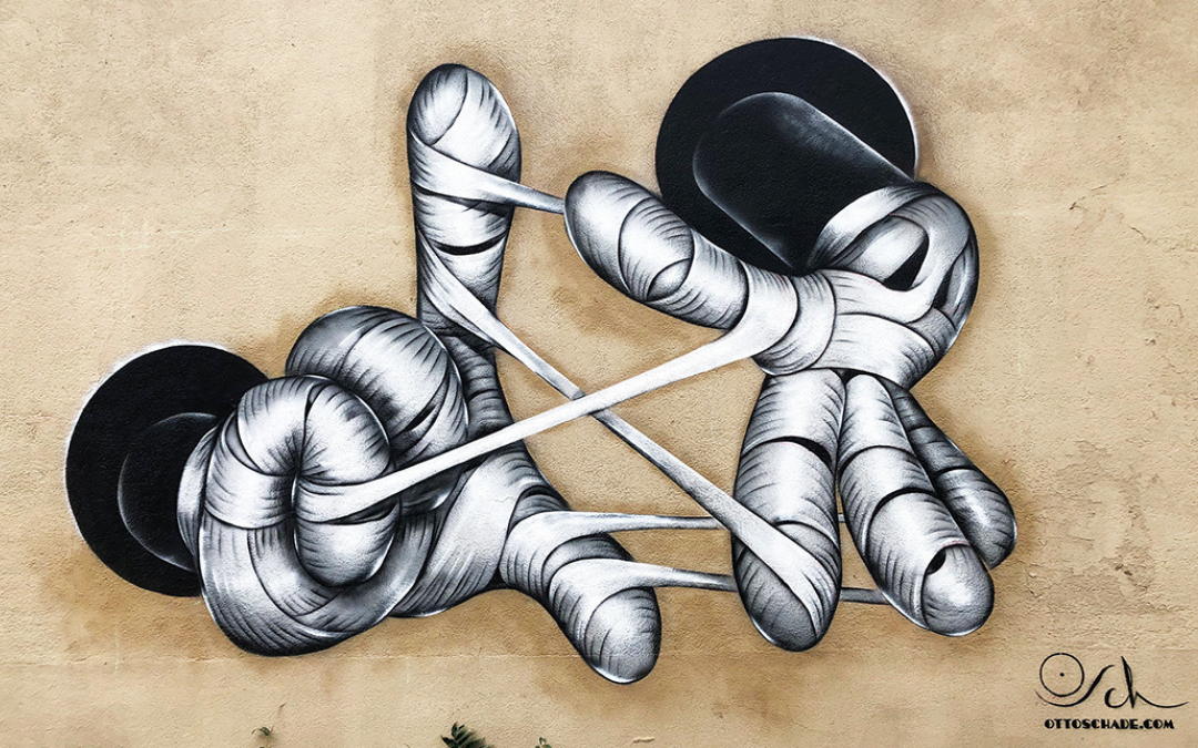 """Mickey Struggling"" by Otto Schade, Paris"